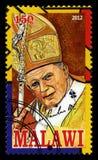Sello de papa Juan Pablo II Imagen de archivo