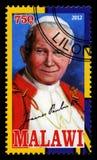 Sello de papa Juan Pablo II Foto de archivo libre de regalías