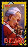 Sello de papa Juan Pablo II Fotos de archivo