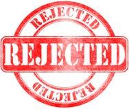 Sello de rechazado Foto de archivo libre de regalías