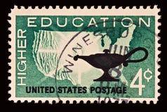 Sello de una educación más alta Imagen de archivo libre de regalías