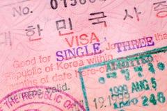 Sello de visa fotos de archivo libres de regalías