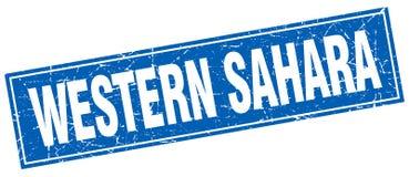 Sello de Western Sahara stock de ilustración
