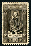 Sello de William Shakespeare los E.E.U.U. fotos de archivo libres de regalías