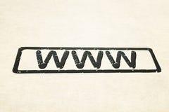 Sello de WWW Foto de archivo libre de regalías