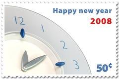 Sello del Año Nuevo ilustración del vector