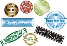 Sello del Año Nuevo del vector libre illustration