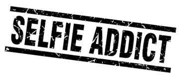 sello del adicto al selfie stock de ilustración