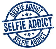 sello del adicto al selfie ilustración del vector