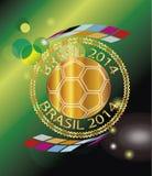 Sello 2014 del Brasil Imágenes de archivo libres de regalías