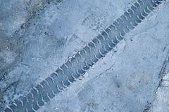 Sello del cemento de la rodera Foto de archivo libre de regalías