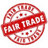 Sello del comercio justo Imágenes de archivo libres de regalías