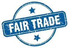 Sello del comercio justo stock de ilustración