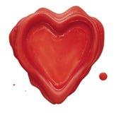 Sello del corazón Fotografía de archivo libre de regalías