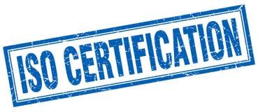 Sello del cuadrado de la certificación de la ISO libre illustration