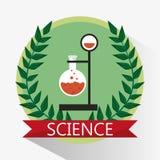 Sello del cubilete del laboratorio de ciencia stock de ilustración