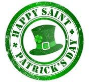 Sello del día de St Patrick feliz ilustración del vector