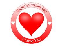 Sello del día de tarjeta del día de San Valentín Foto de archivo