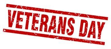 Sello del día de veteranos stock de ilustración