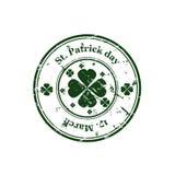 Sello del día del St Patrick Fotografía de archivo libre de regalías