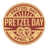 Sello del día del pretzel Fotos de archivo
