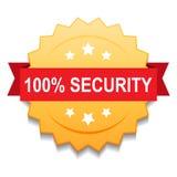 sello 100% del sello de la seguridad libre illustration