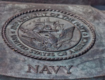 Sello del departamento de Estados Unidos de la marina de guerra Imagen de archivo