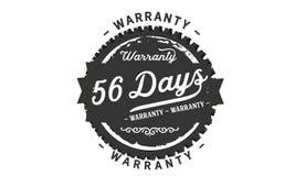 sello del diseño de la garantía de 56 días ilustración del vector