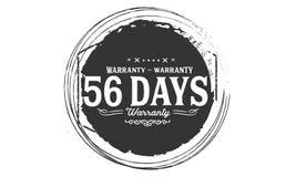 sello del diseño de la garantía de 56 días libre illustration