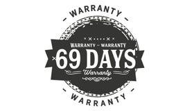 sello del diseño de la garantía de 69 días ilustración del vector