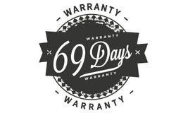 sello del diseño de la garantía de 69 días libre illustration