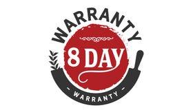 sello del diseño del ejemplo de la garantía de 8 días stock de ilustración