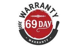 sello del diseño del ejemplo de la garantía de 69 días stock de ilustración