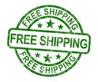 Sello del envío gratis que no muestra ninguna carga o entregar gratis libre illustration