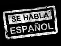 Sello del español stock de ilustración