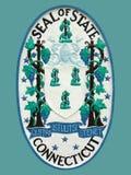 Sello del estado de Connecticut Imágenes de archivo libres de regalías