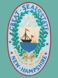 Sello del estado de de New Hampshire Foto de archivo libre de regalías