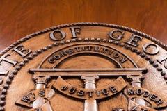Sello del estado de Georgia Imagen de archivo