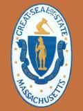 Sello del estado de Massachusetts Imagen de archivo libre de regalías