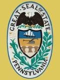 Sello del estado de Pennsylvania Fotografía de archivo libre de regalías