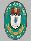 Sello del estado de Virginia Imagenes de archivo
