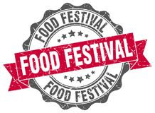 sello del festival de la comida sello stock de ilustración