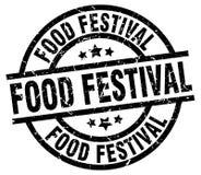 Sello del festival de la comida ilustración del vector