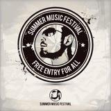 Sello del festival de música del verano Fotografía de archivo libre de regalías