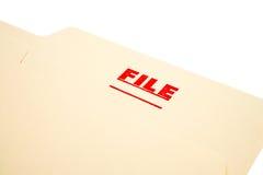 Sello del fichero en el papel Foto de archivo libre de regalías