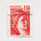 Sello del francés Fotos de archivo