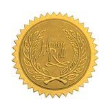 Sello del honor del oro Fotos de archivo