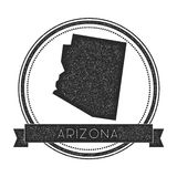 Sello del mapa del vector de Arizona ilustración del vector