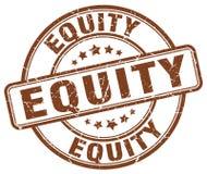 sello del marrón de la equidad libre illustration
