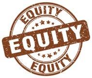 sello del marrón de la equidad stock de ilustración